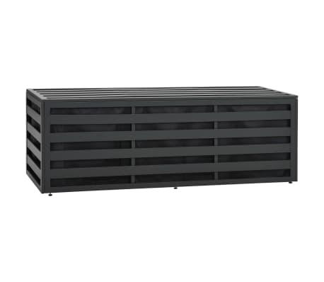 vidaXL dārza uzglabāšanas kaste, alumīnijs, 150x50x50 cm, pelēka