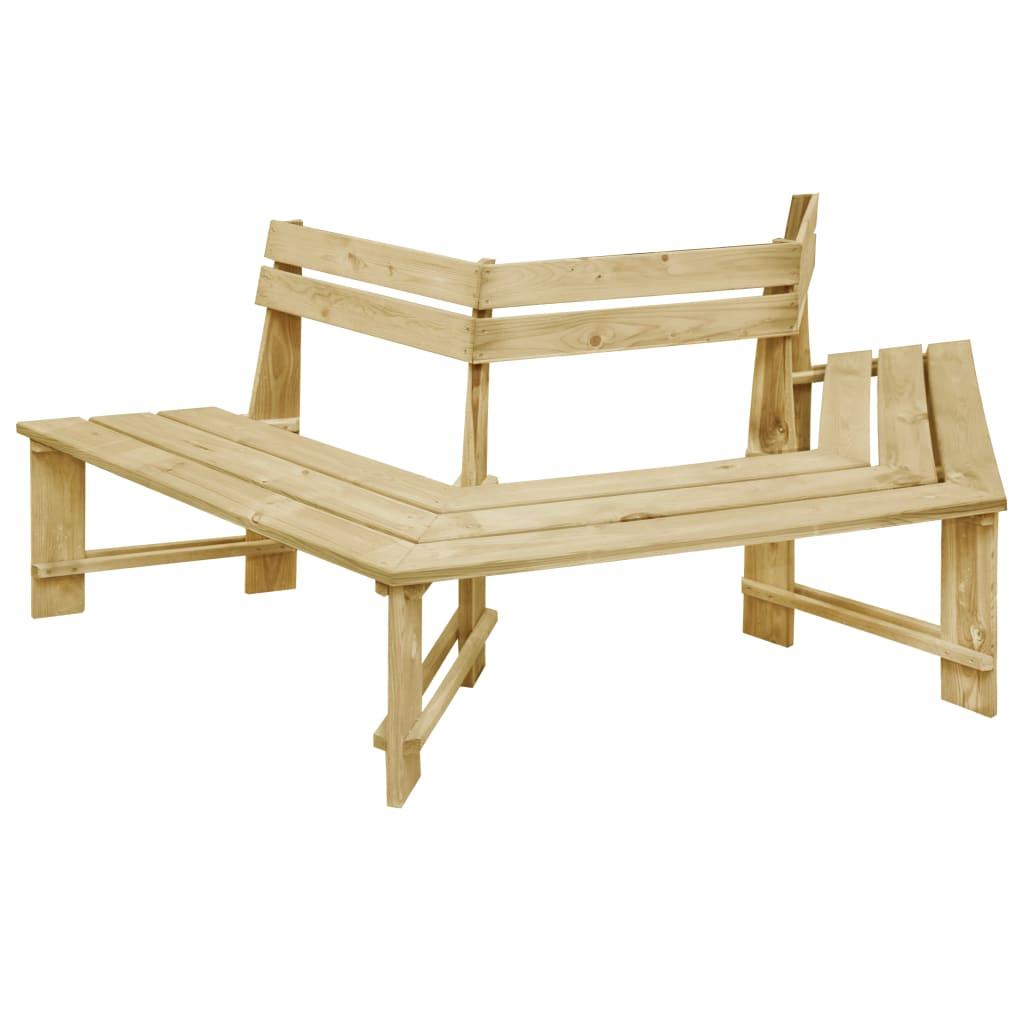 vidaXL Bancă de grădină, 240 cm, lemn de pin tratat imagine vidaxl.ro