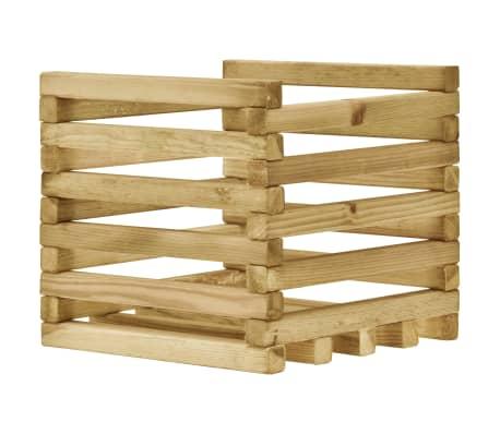 vidaXL Plantenbak verhoogd 40x40x35 cm geïmpregneerd grenenhout