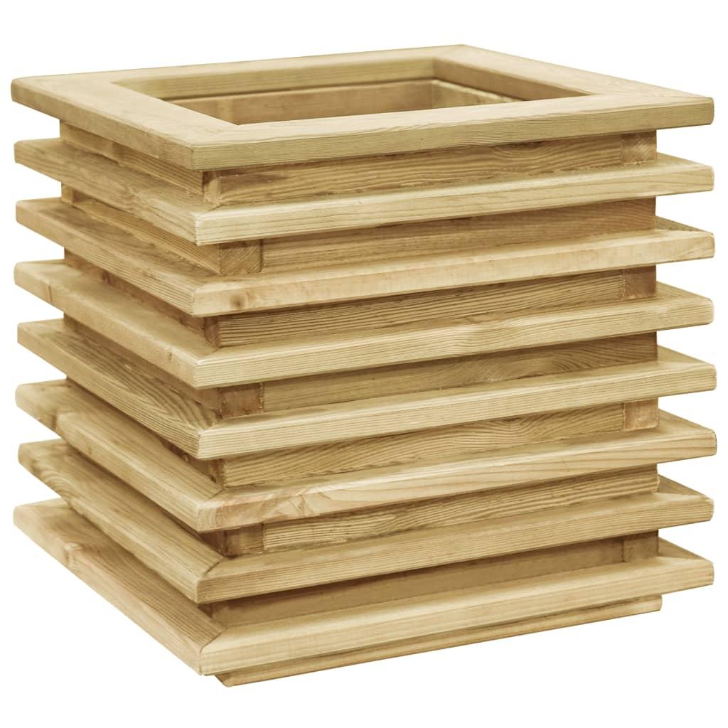 Vyvýšený záhon 50 x 50 x 40 cm impregnovaná borovice