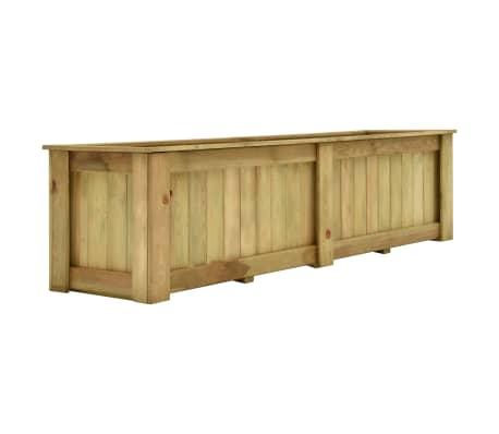 vidaXL Plantenbak verhoogd 196x50x50 cm geïmpregneerd grenenhout