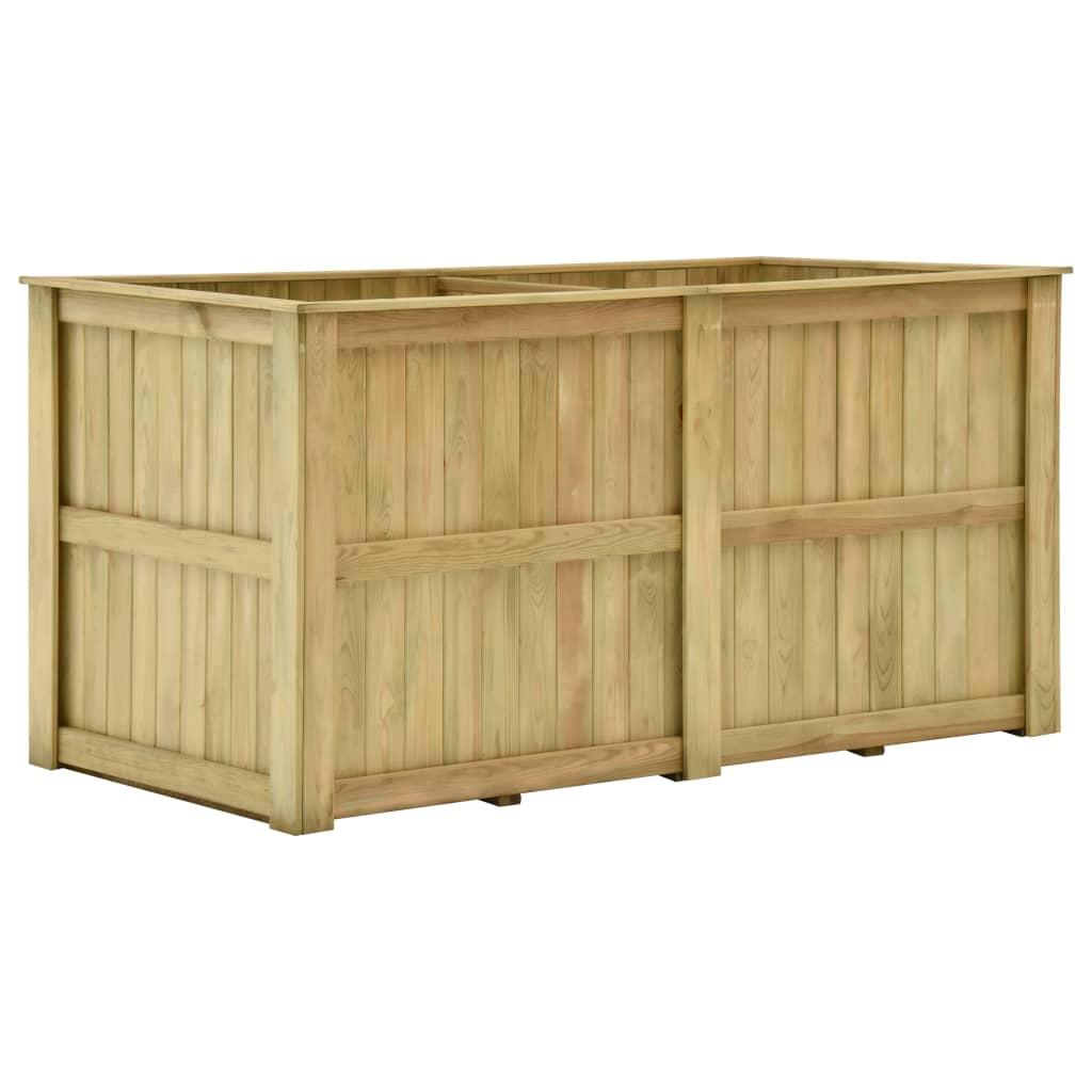 vidaXL Jardinieră înaltă, 196 x 100 x 100 cm, lemn de pin tratat imagine vidaxl.ro