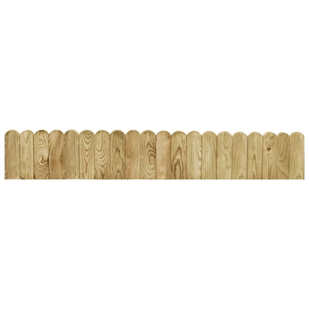 Trávníkový lem zelený 120 cm impregnované borové dřevo