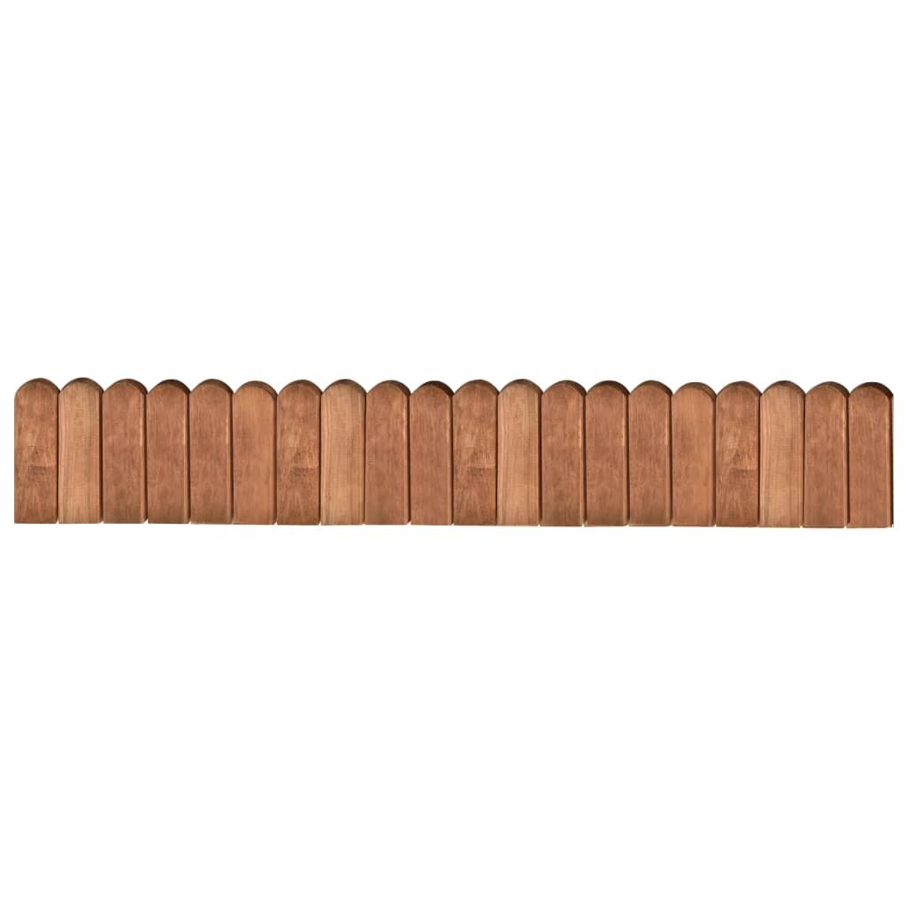 vidaXL Rolă de bordură, maro, 120 cm, lemn de pin tratat imagine vidaxl.ro