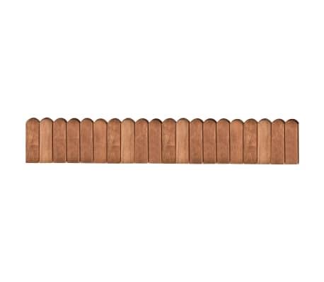 vidaXL Raja-aitarulla ruskea 120 cm kyllästetty mänty