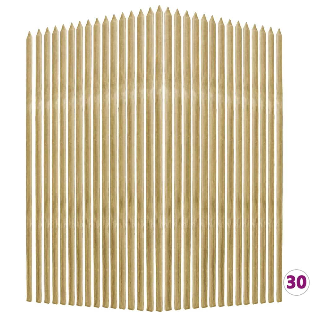 vidaXL Tyčky k rostlinám 30 ks 2,8x2,8x150cm impregnovaná borovice