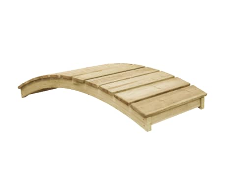vidaXL Garden Bridge 170x74 cm Impregnated Pinewood