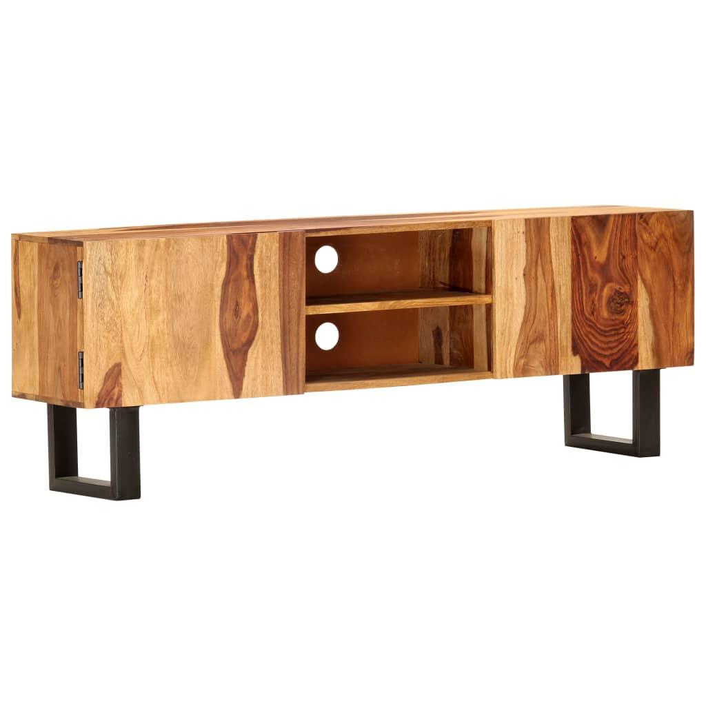 vidaXL Comodă TV, 130 x 30 x 47 cm, lemn masiv de acacia poza 2021 vidaXL
