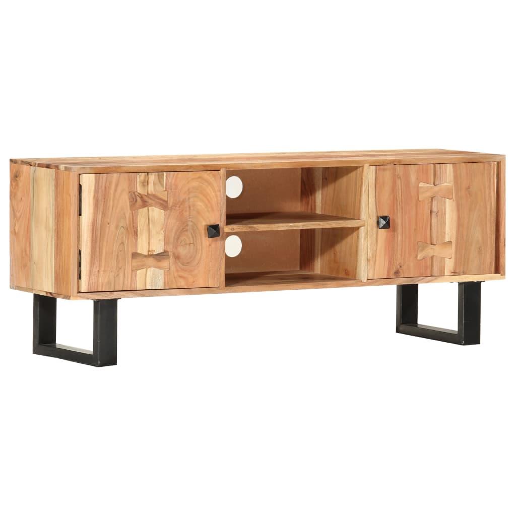 vidaXL Comodă TV, 118 x 30 x 45 cm, lemn masiv de acacia poza 2021 vidaXL