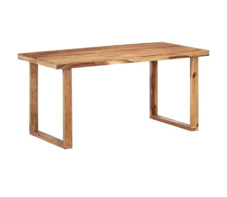 vidaXL Dining Table 160x80x76 cm Solid Sheesham Wood
