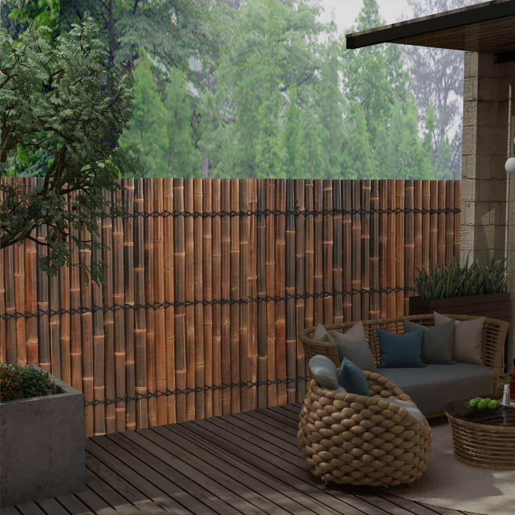 vidaXL Panou gard de grădină, maro închis, 170x150 cm, bambus poza 2021 vidaXL