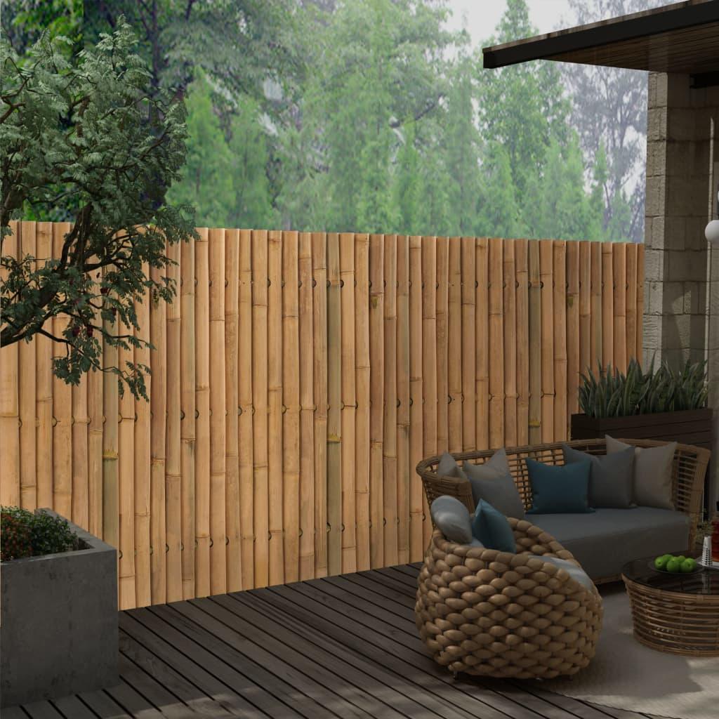 vidaXL Panou gard de grădină din bambus, 120 x 150 cm imagine vidaxl.ro