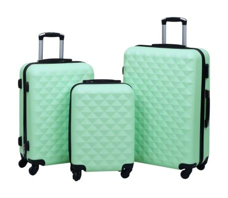 vidaXL 3-delige Harde kofferset ABS mintkleurig