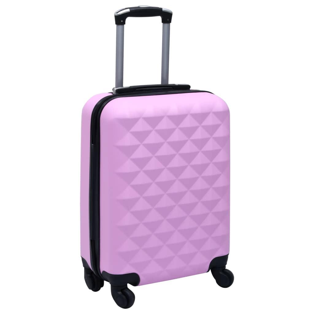 Skořepinový kufr na kolečkách růžový ABS