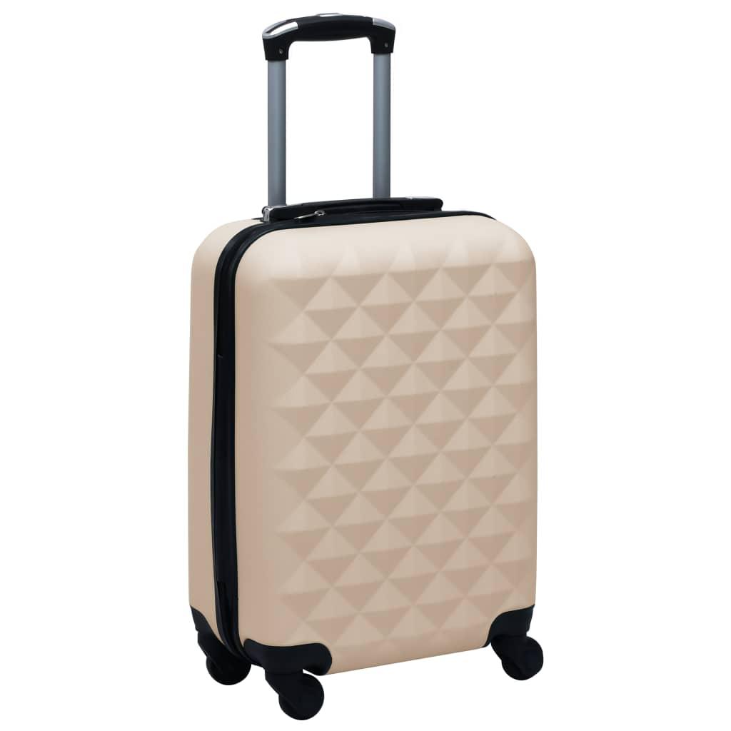 Skořepinový kufr na kolečkách zlatý ABS