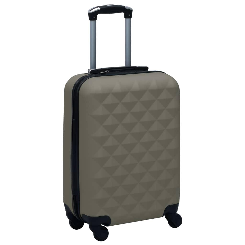 Skořepinový kufr na kolečkách antracitový ABS