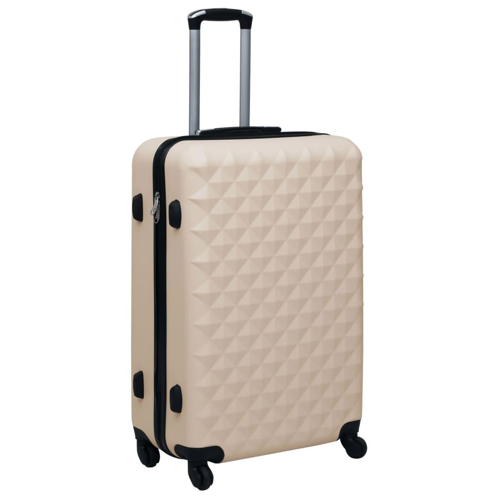 vidaXL Skořepinový kufr na kolečkách zlatý ABS