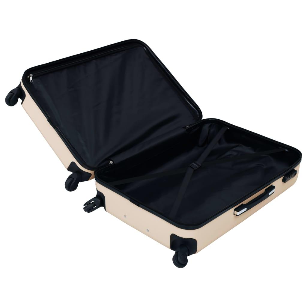 Kõvakattega kohver 2 tk kuldne ABS