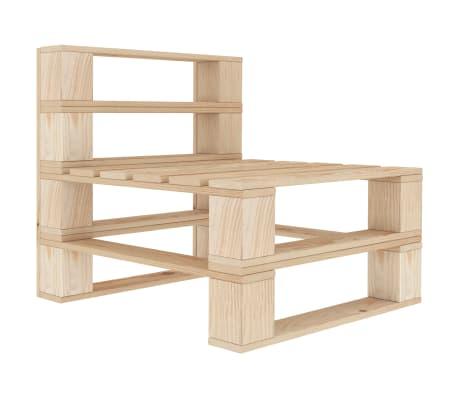 vidaXL Garden Pallet Middle Sofa Wood