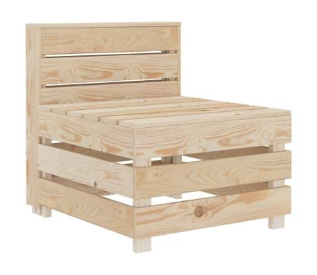 vidaXL Garden Pallet Sofa Wood