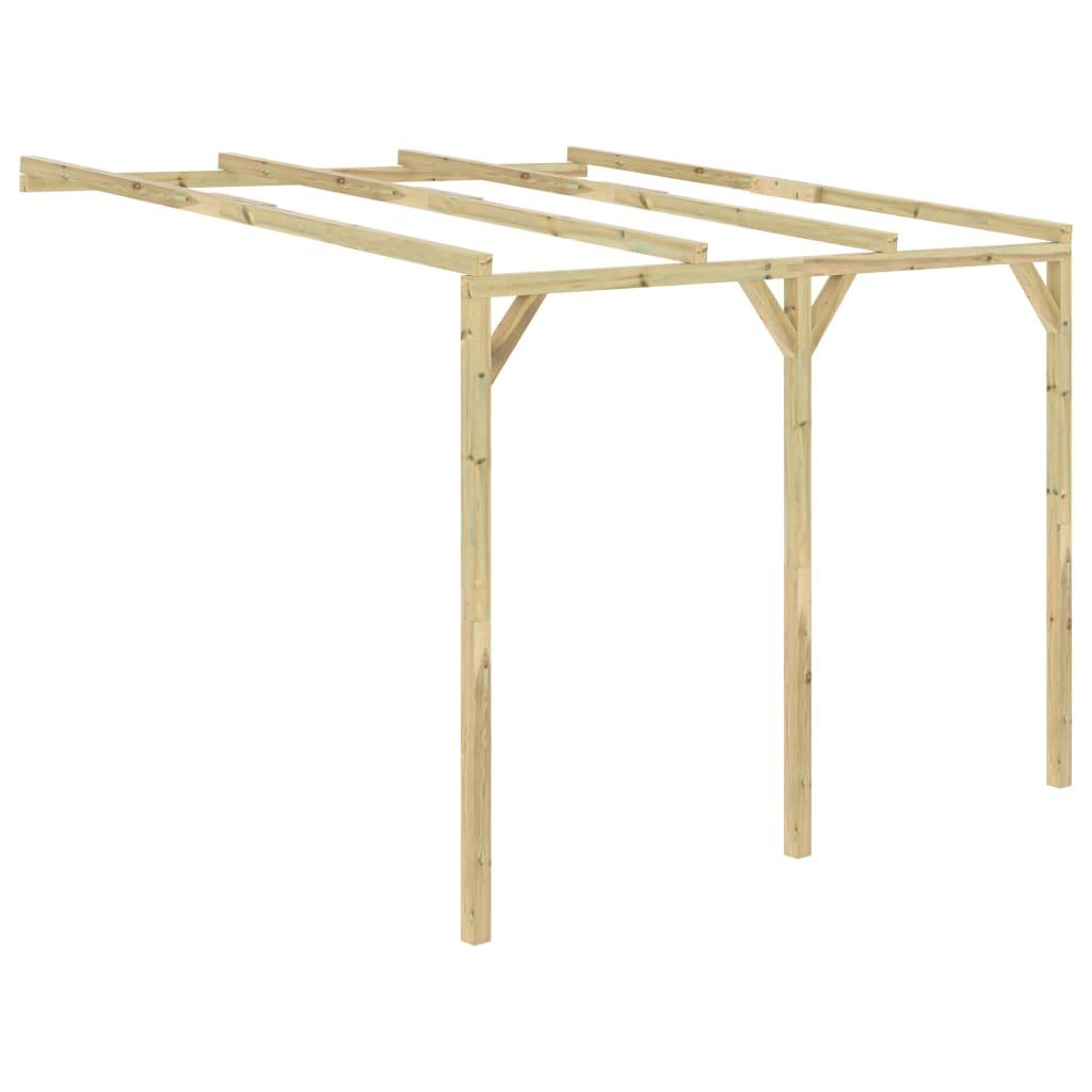 vidaXL Pergolă de perete, 3 x 3 x 2,1 m, lemn vidaxl.ro