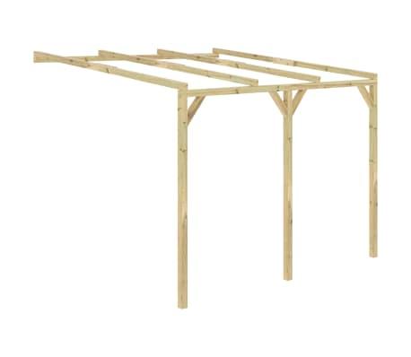 vidaXL Pergola aanleunmodel 3x3x2,1 m hout
