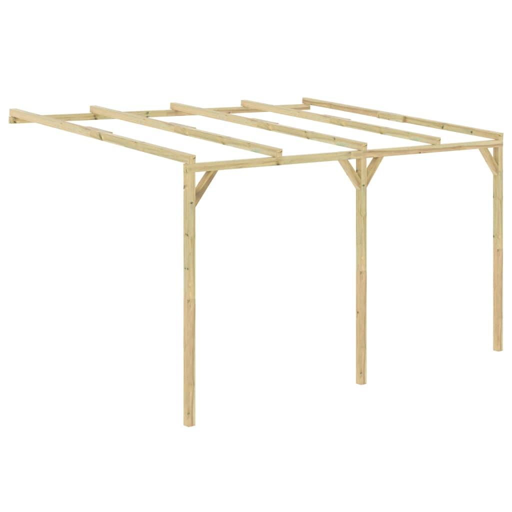 vidaXL Pergolă de perete, 4 x 3 x 2,1 m, lemn vidaxl.ro