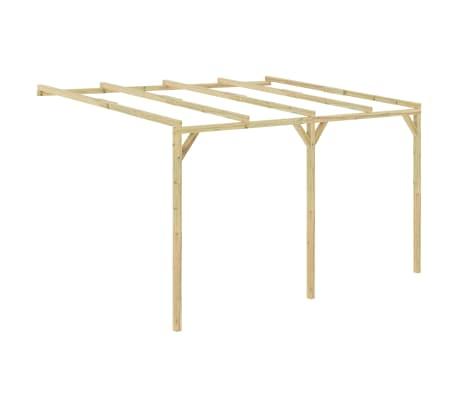 vidaXL Pergola aanleunmodel 4x3x2,1 m hout