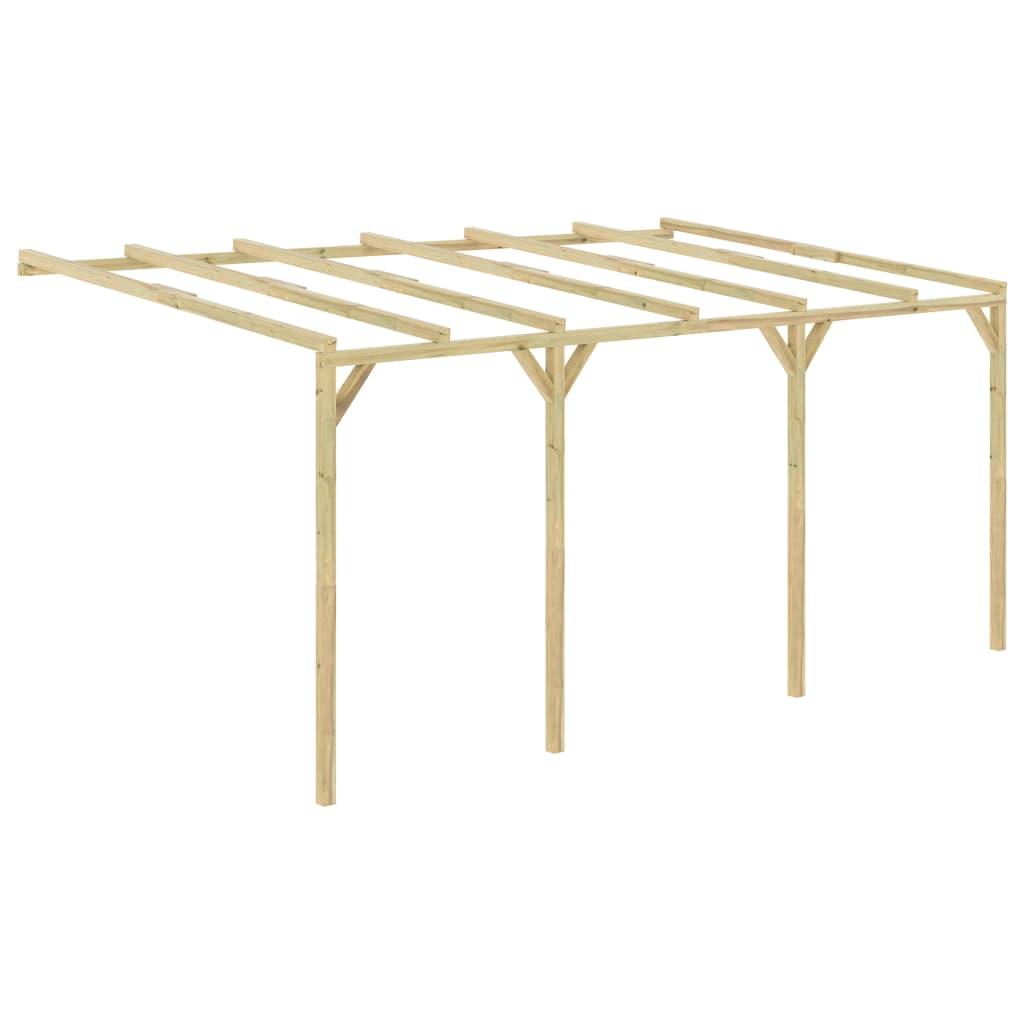 vidaXL Pergolă de perete, 5 x 3 x 2,1 m, lemn vidaxl.ro