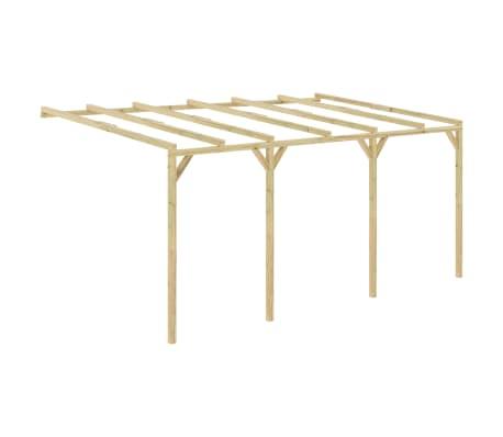 vidaXL Pergola aanleunmodel 5x3x2,1 m hout