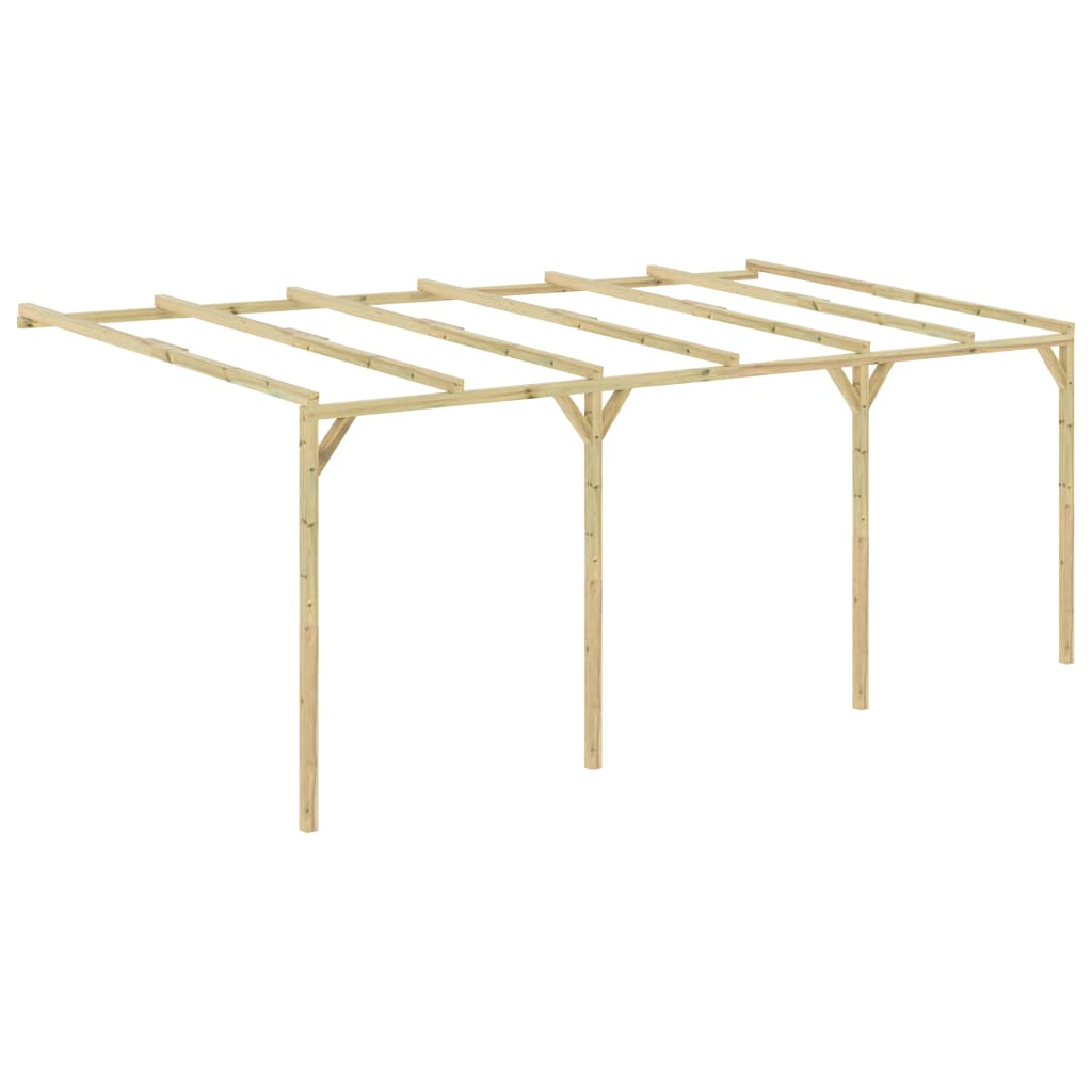 vidaXL Pergolă de perete, 6 x 3 x 2,1 m, lemn vidaxl.ro