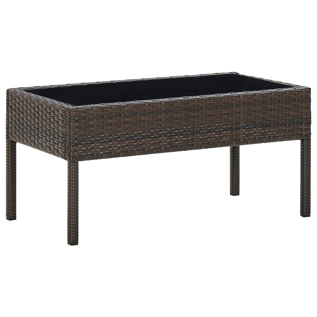 Zahradní stůl hnědý 75 x 40 x 37 cm polyratan