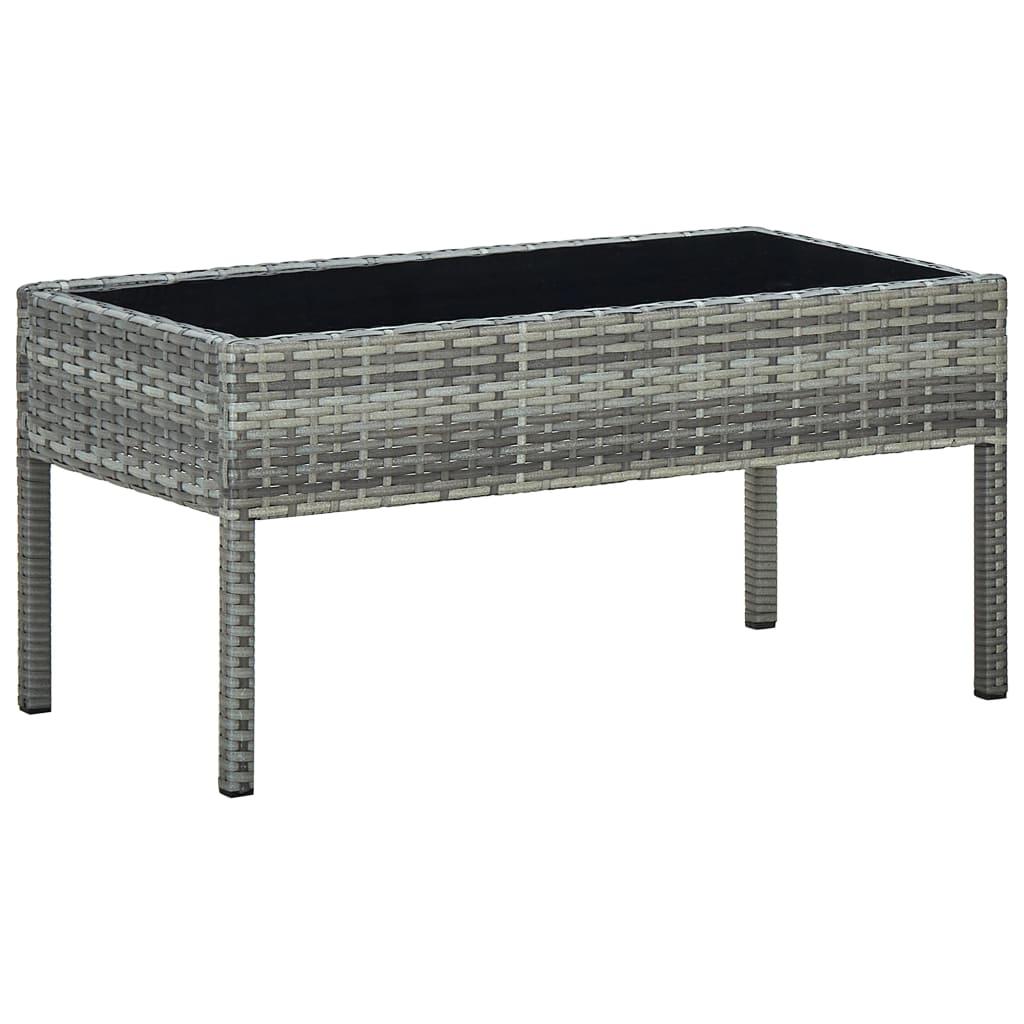 Zahradní stůl šedý 75 x 40 x 37 cm polyratan