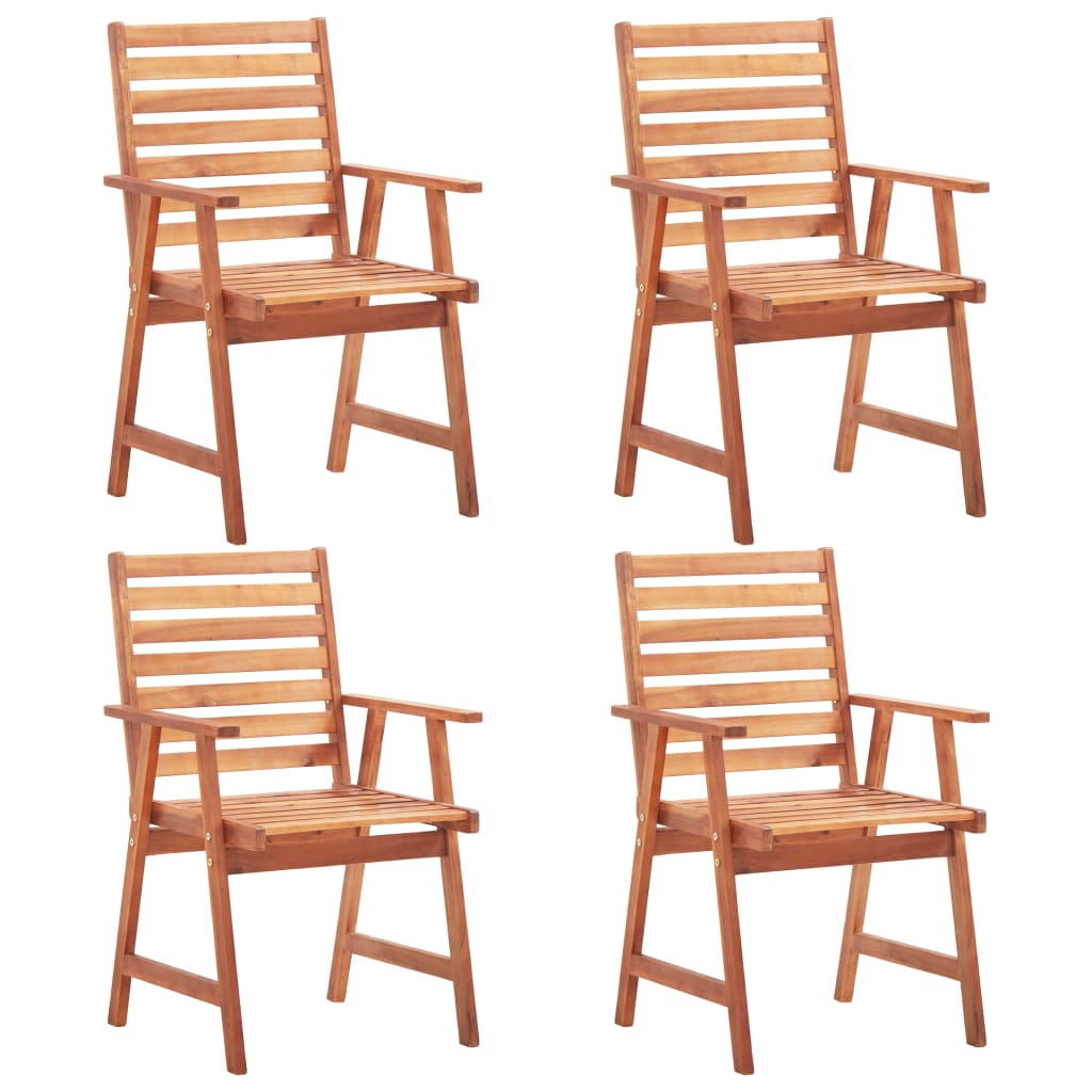 vidaXL Καρέκλες Τραπεζαρίας Εξωτερικού Χώρου 4 τεμ. Μασίφ Ξύλο Ακακίας