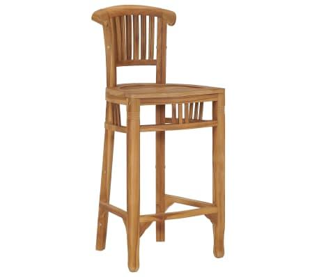 vidaXL Chaise de bar Bois de teck solide
