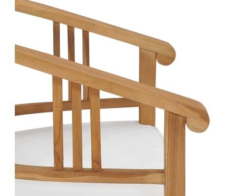 vidaXL Gartenstühle mit Kissen 2 Stk. Teak Massivholz