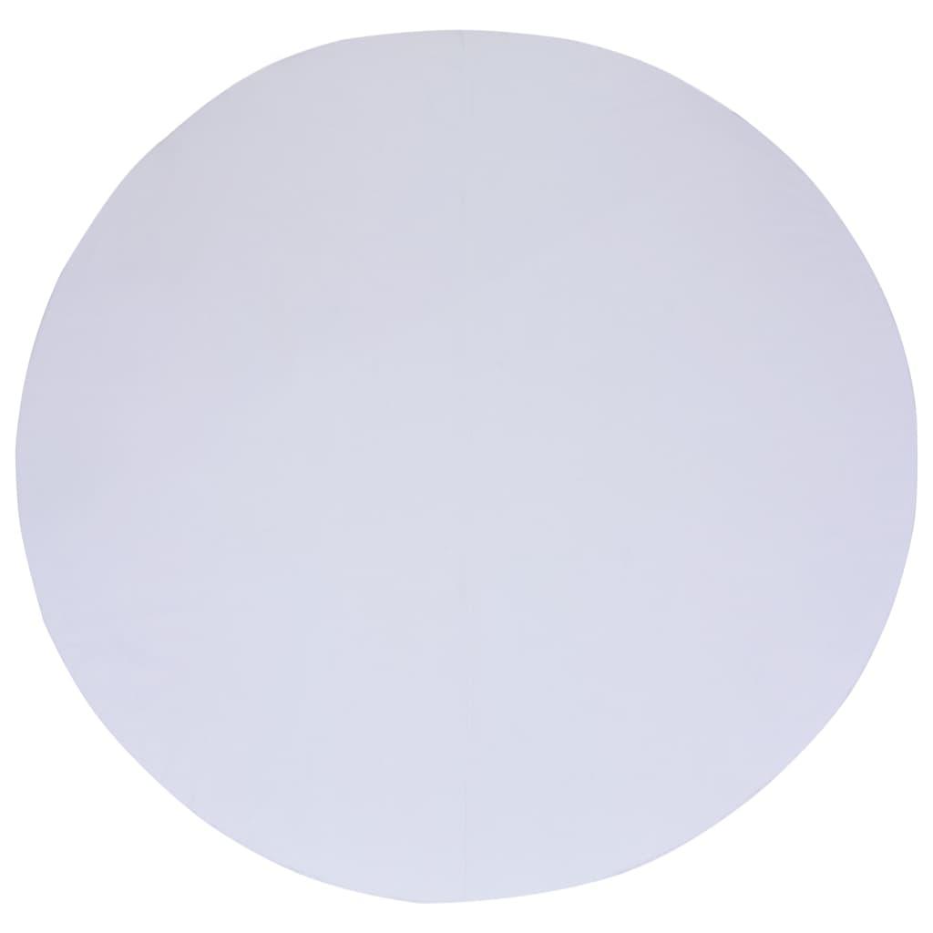 vidaXL Zwembadgrondzeil 550 cm geotextiel wit