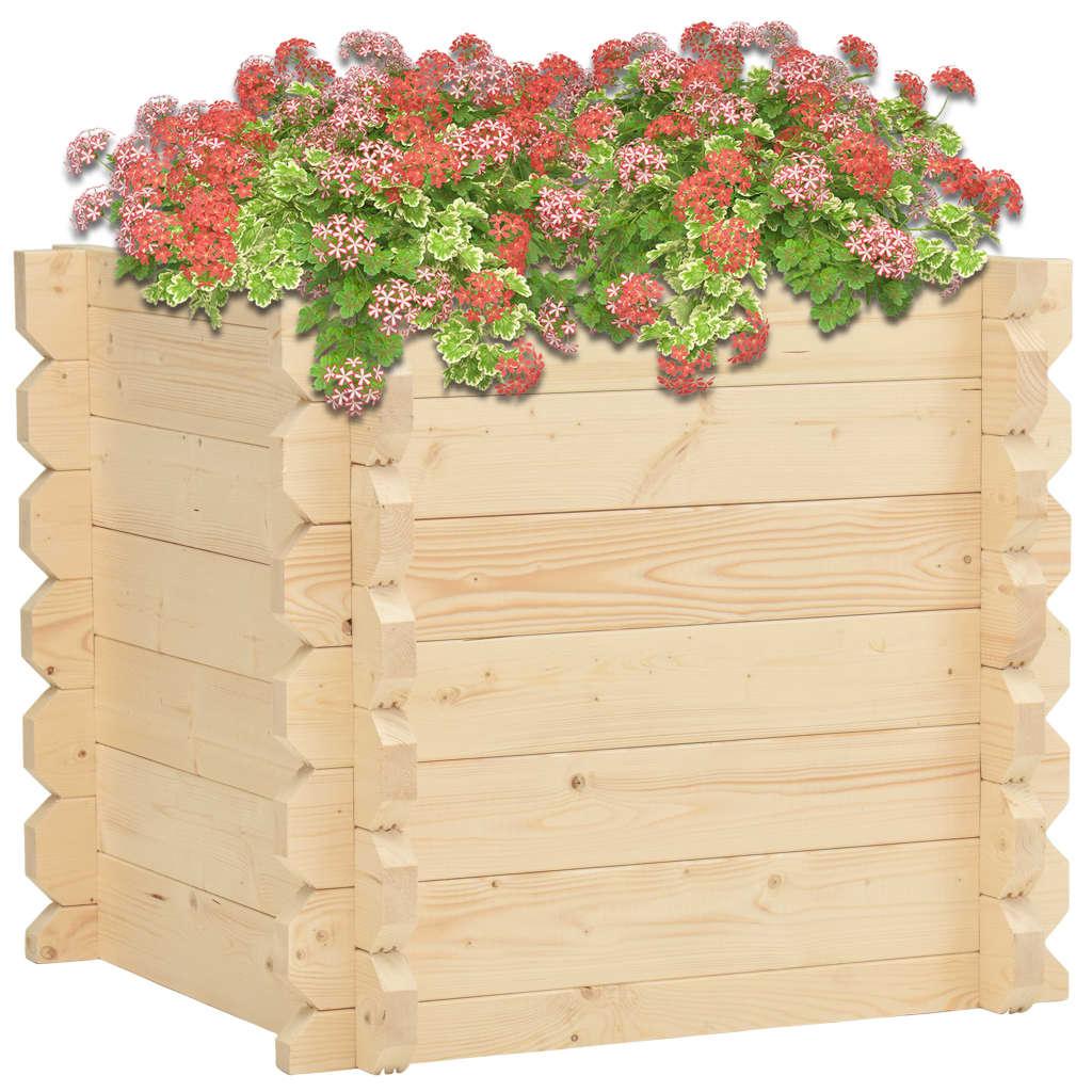vidaXL Strat înălțat, 42 mm, 100 x 100 x 87,8, lemn masiv de molid poza vidaxl.ro