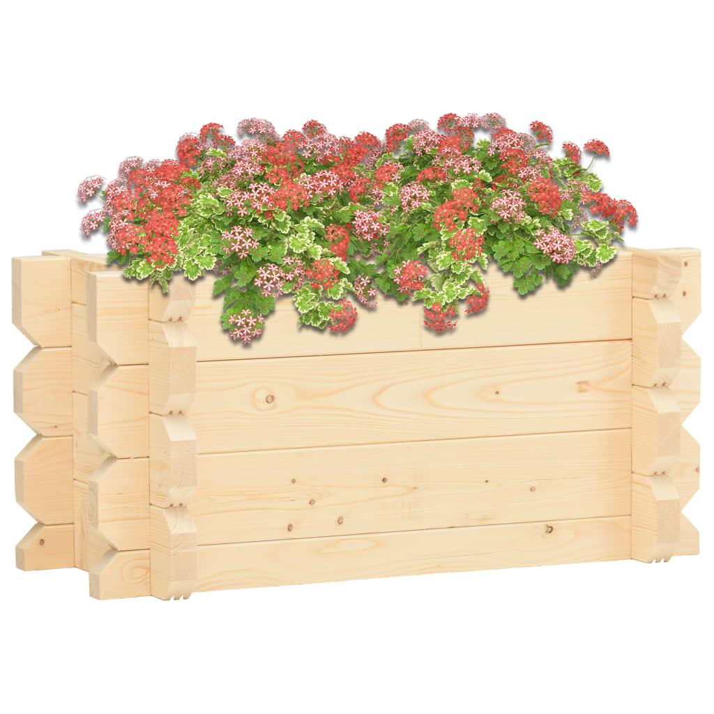 Vyvýšený záhon 42 mm 100 x 50 x 47,3 cm masivní smrkové dřevo