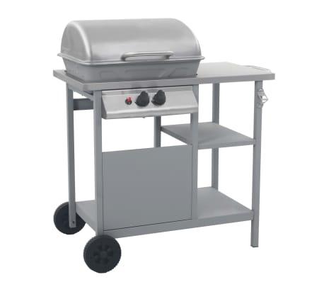vidaXL ezüst gáz grillező 3 szintes kisasztallal