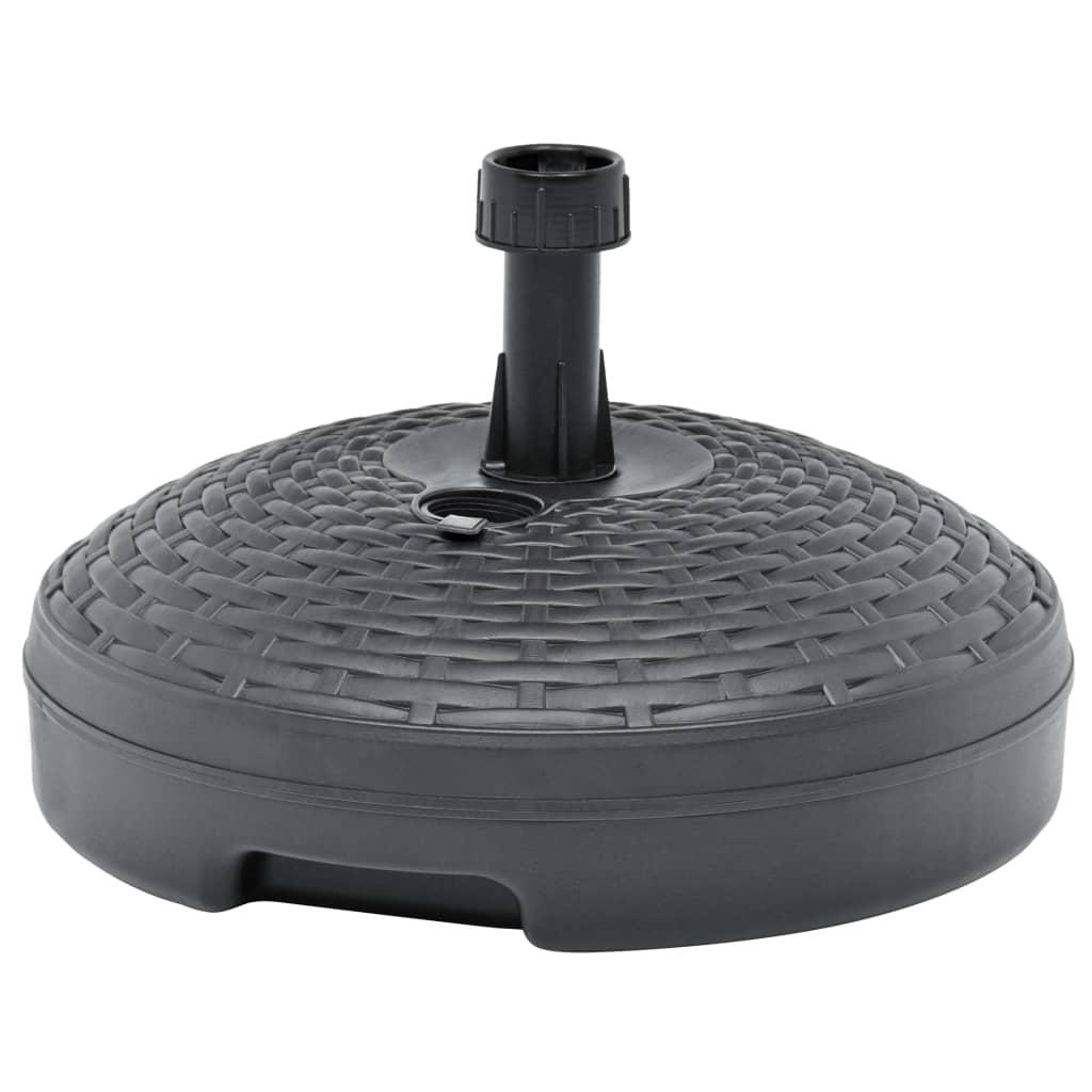 vidaXL Parasolvoet gevuld met zand/water 20 L kunststof antraciet