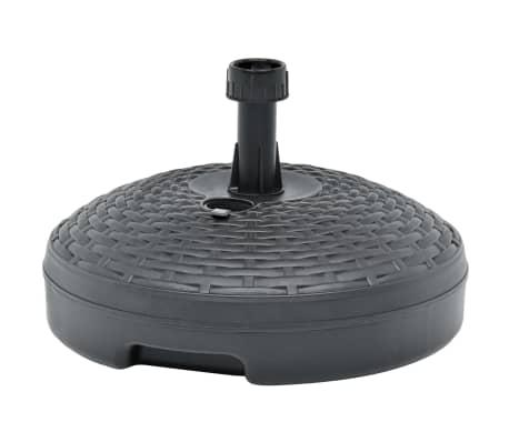 vidaXL Sonnenschirmständer Sand/Wasser 20 L Anthrazit Kunststoff