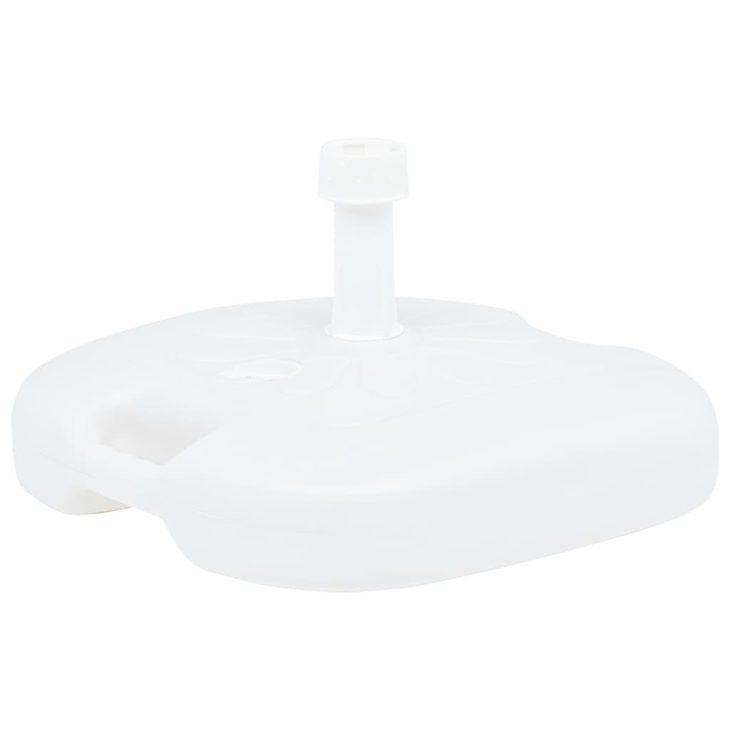 vidaXL Suport umbrelă, alb, 16 L, plastic, umplere cu nisip/apă vidaxl.ro