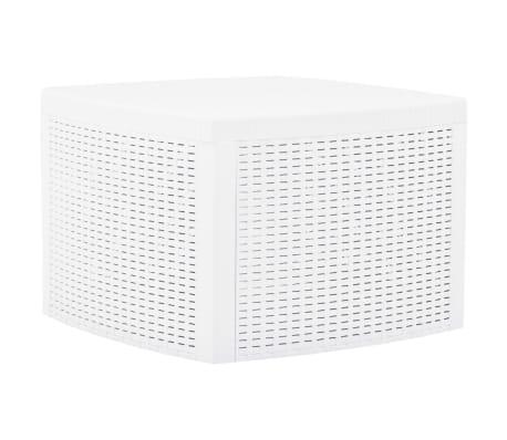 vidaXL sidebord 54 x 54 x 36,5 cm plastik hvid