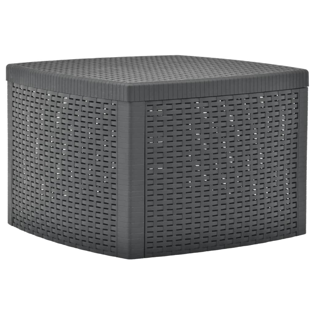 vidaXL Βοηθητικό Τραπέζι Ανθρακί 54 x 54 x 36,5 εκ. Πλαστικό