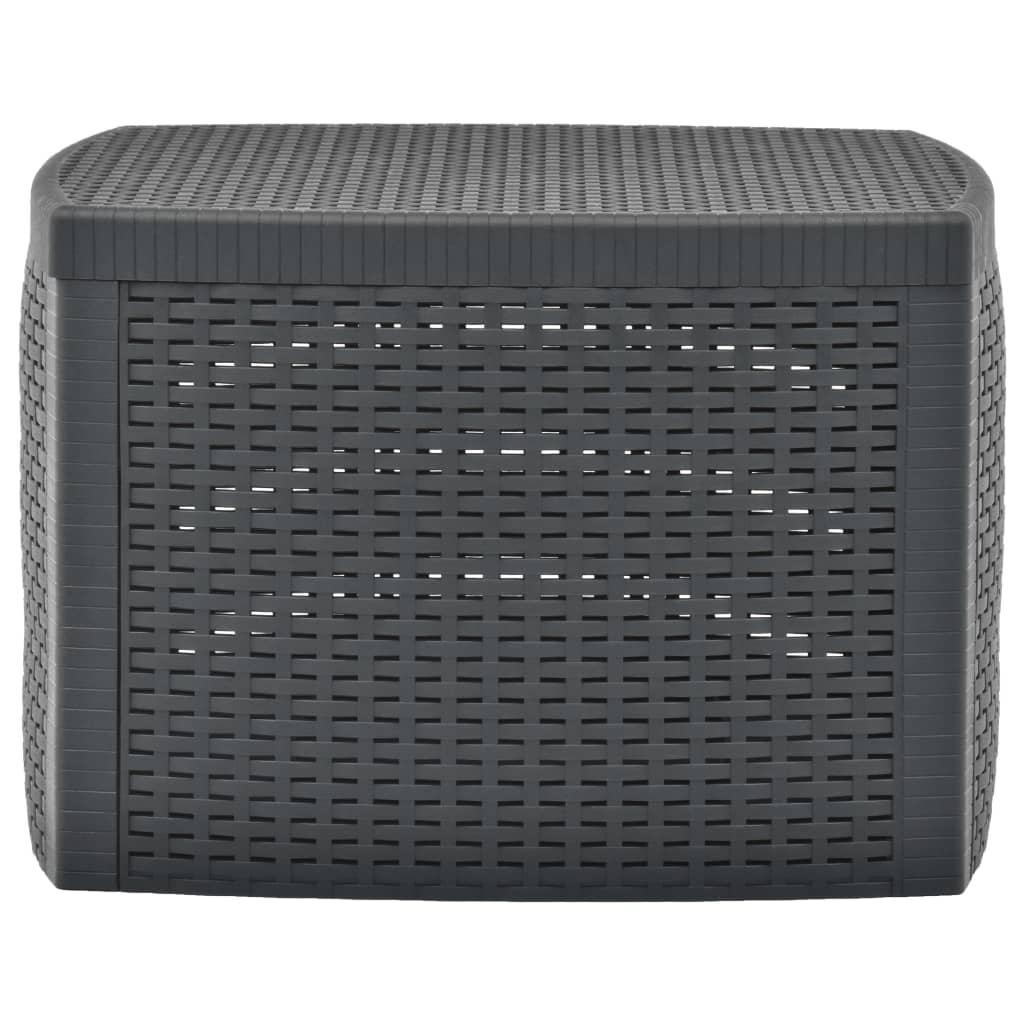 Bijzettafel 54x54x36,5 cm kunststof antraciet