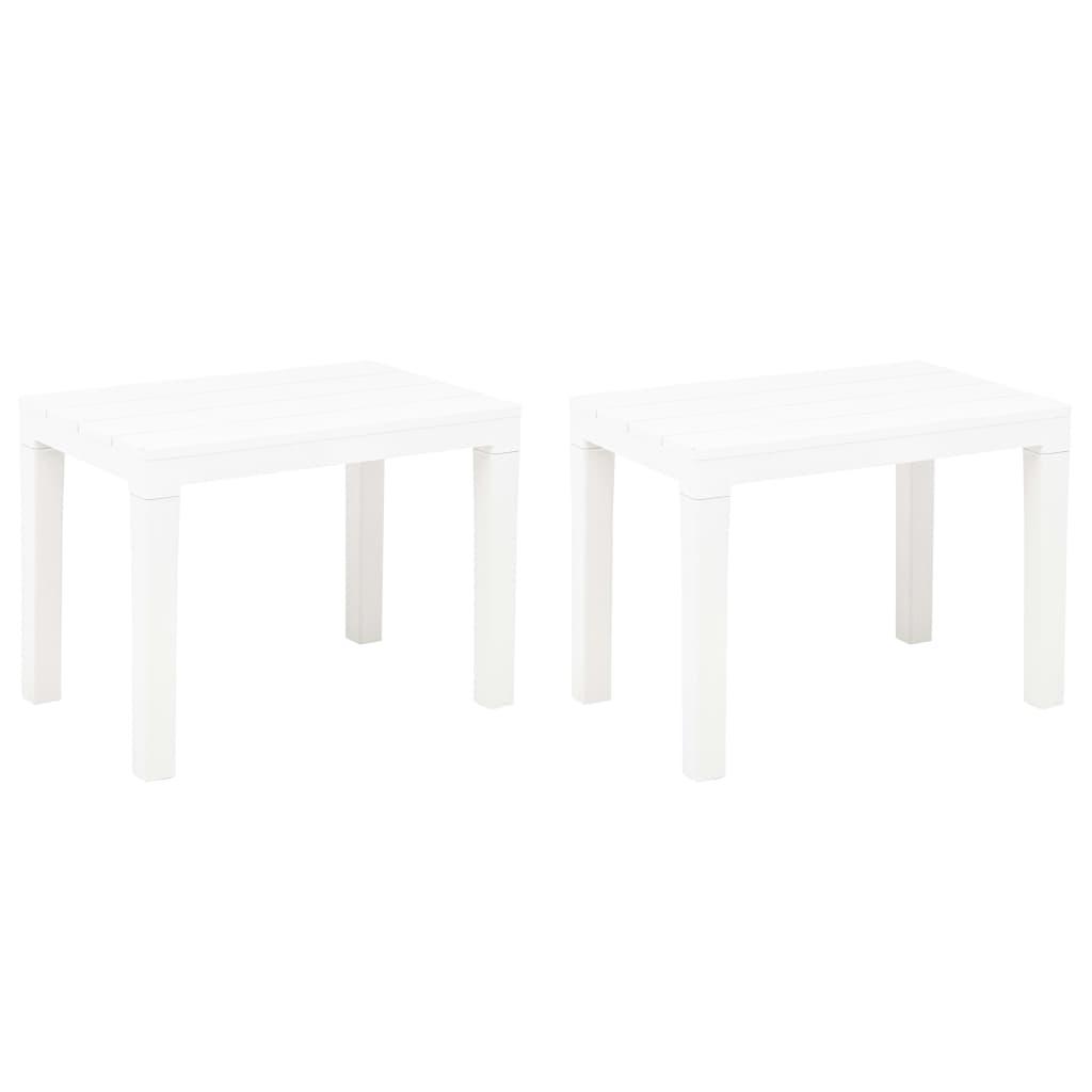 Zahradní lavice 2 ks bílé plast