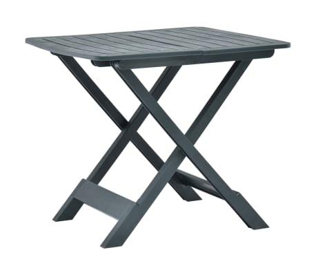 Tavoli In Plastica Pieghevoli.Vidaxl Tavolo Da Giardino Pieghevole Verde 79x72x70 Cm In Plastica