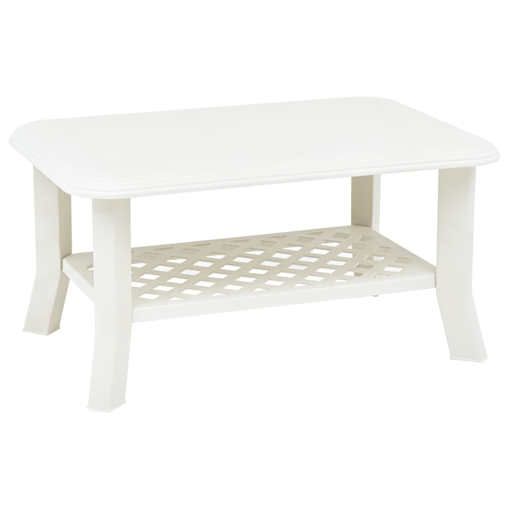Konferenční stolek bílý 90 x 60 x 46 cm plast