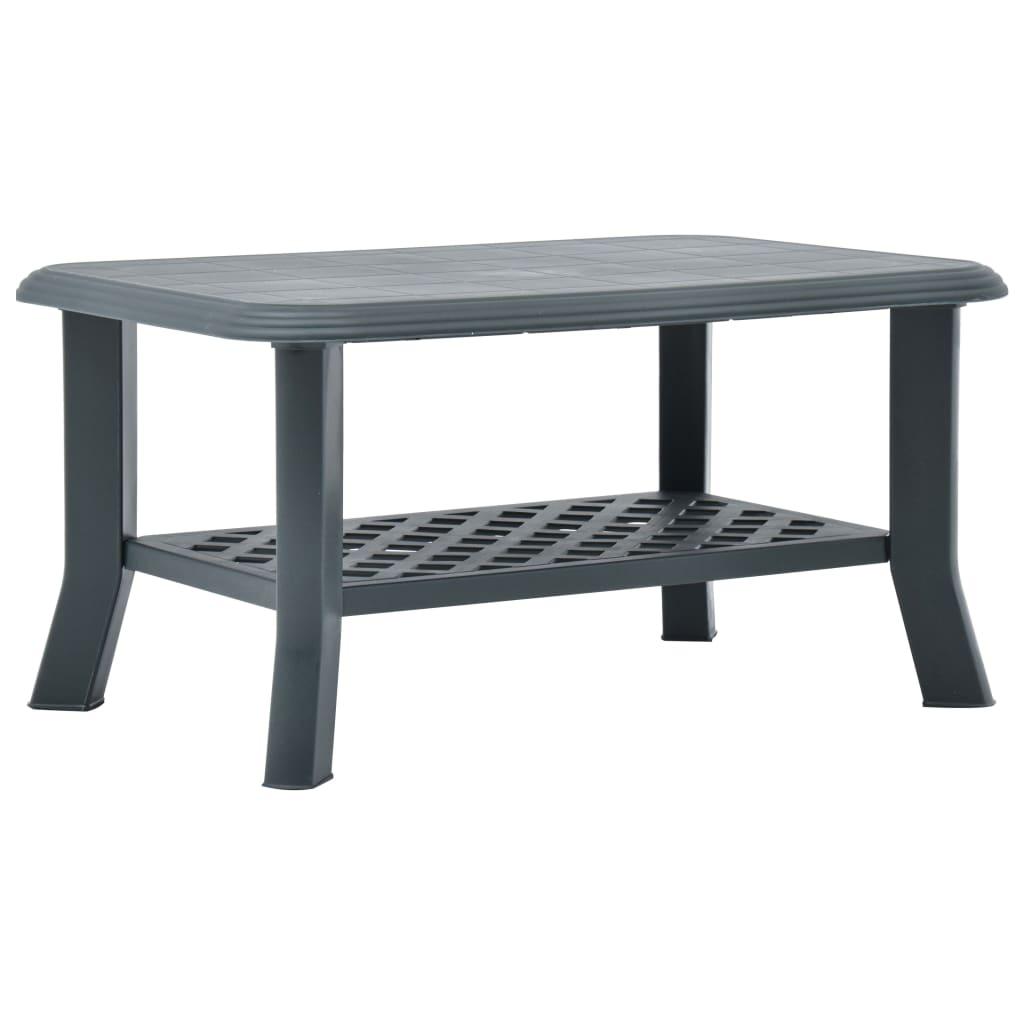 Konferenční stolek zelený 90 x 60 x 46 cm plast